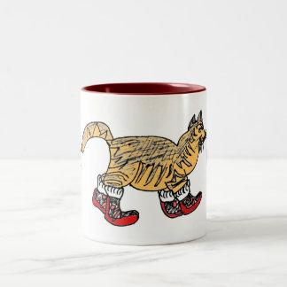 猫歩行 ツートーンマグカップ