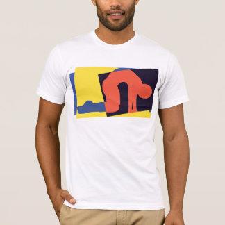 猫牛姿勢のヨガのTシャツ Tシャツ