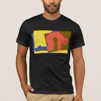 猫牛姿勢のヨガ Tシャツ