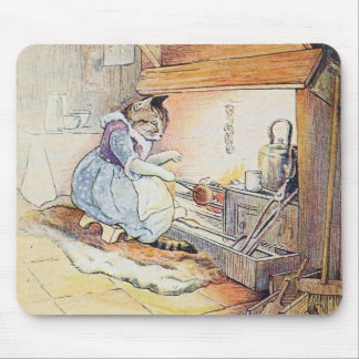 猫猫は火によって坐ります マウスパッド