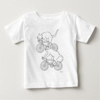 猫車 -cat sprint- A (black) ベビーTシャツ