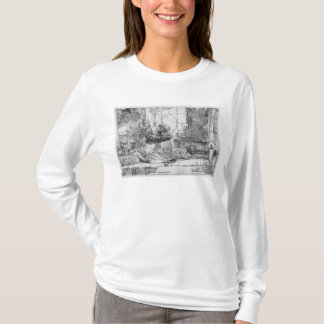 猫1654年を持つ神聖な家族 Tシャツ