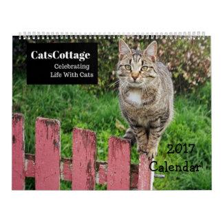 猫2017のカレンダーとの生命を祝うこと カレンダー