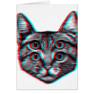 猫3dの3d猫、白黒猫 カード
