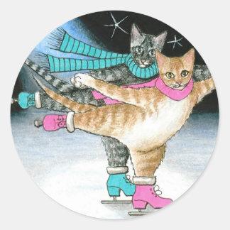 猫437のステッカー ラウンドシール