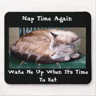 猫7、再度昼寝の時間、マウスパッド マウスパッド