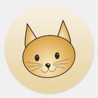猫。 かわいいショウガのキティ ラウンドシール