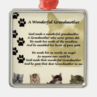 猫-すばらしい祖母の詩 メタルオーナメント