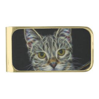 猫 ゴールド マネークリップ
