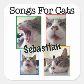 猫-セバスチャンのデカールのための歌 スクエアシール