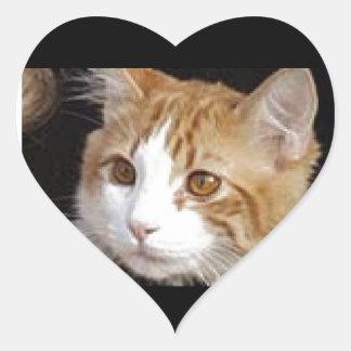 猫 ハートシール