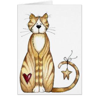 猫-バレンタインカード カード