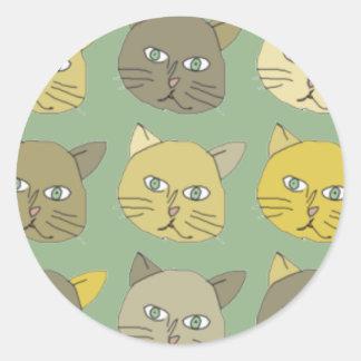 猫 ラウンドシール