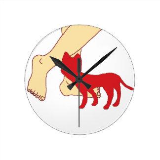 猫 ラウンド壁時計