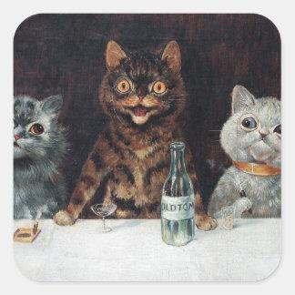 猫、ルイWain スクエアシール