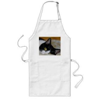 猫 ロングエプロン