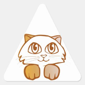 猫 三角形シール