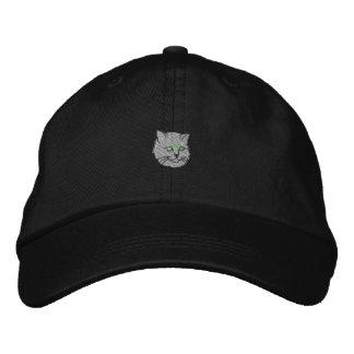 猫 刺繍入り帽子