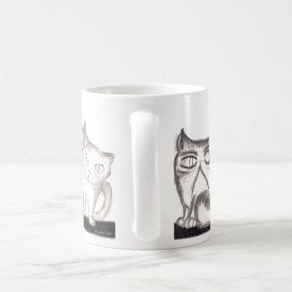 猫-奇妙で、信用できない-マグ コーヒーマグカップ