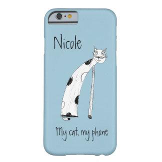 猫、子供のスケッチ BARELY THERE iPhone 6 ケース