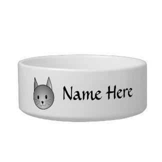 猫。 愛らしい灰色の子猫の設計 ボウル