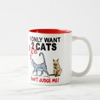 猫-私を判断しないで下さい! コーヒー・マグ ツートーンマグカップ