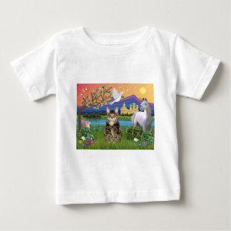 猫- (虎猫) -ファンタジーの土地 ベビーTシャツ