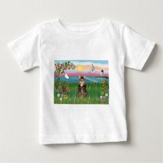猫(虎猫) -灯台 ベビーTシャツ