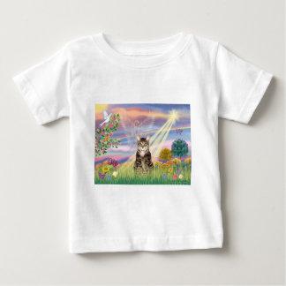 猫(虎猫) -雲の天使 ベビーTシャツ