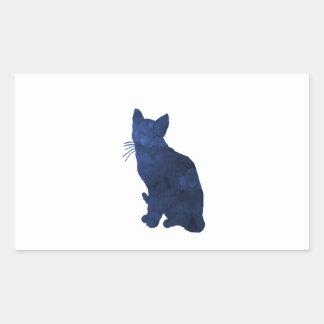 猫 長方形シール