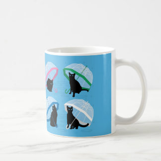 猫「雨が降りますn猫11oz/15ozのマグ コーヒーマグカップ