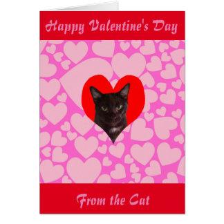 猫(黒猫)からのハッピーバレンタインデー カード