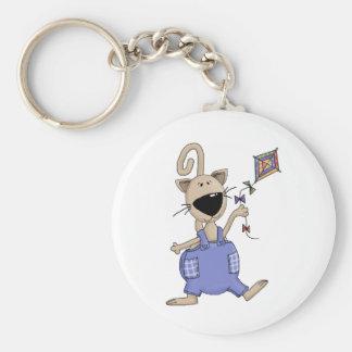猫「n」犬 · 凧を持つ猫 キーホルダー