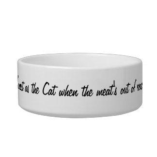 """猫Copiaのカスタムな""""古い英国のことわざ""""のペットボウル ボウル"""