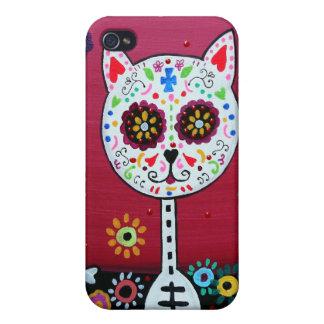 猫DIA DE LOS MUERTOS iPhone 4/4S CASE