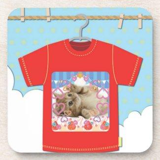 猫Tシャツ コースター