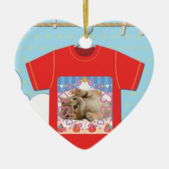 猫Tシャツ セラミックオーナメント