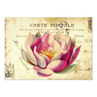 献立表のPoSTaLeの庭のパーティの招待状 カード