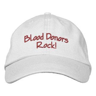 献血者の石! 刺繍入りキャップ