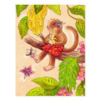 猿およびトンボ ポストカード