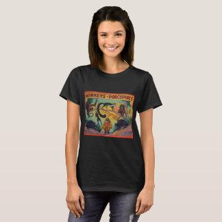 猿およびヤマアラシ Tシャツ