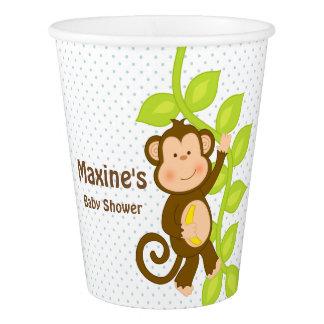 猿が付いているサファリのテーマの紙コップ 紙コップ