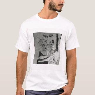 猿が付いている猫の昼寝 Tシャツ