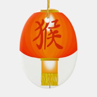 猿のちょうちんの中国のな年 セラミックオーナメント