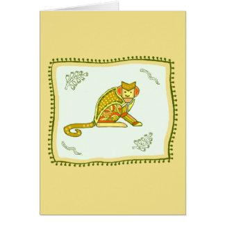 猿のキルト カード