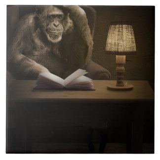 猿のサルのチンパンジー タイル