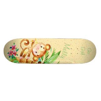 猿のジャングルのおもしろいのスケートで滑ること スケートボード