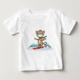 猿のスノーボーダー ベビーTシャツ