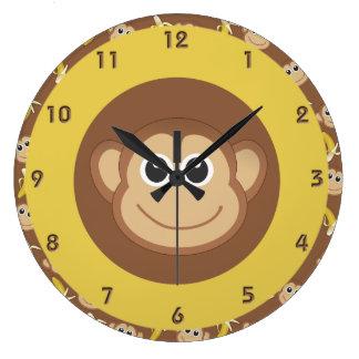 猿のバナナ ウォールクロック