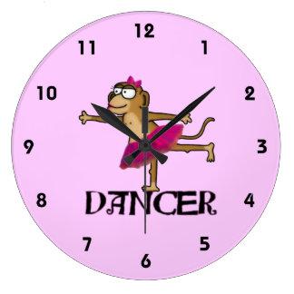 猿のバレエ ラージ壁時計